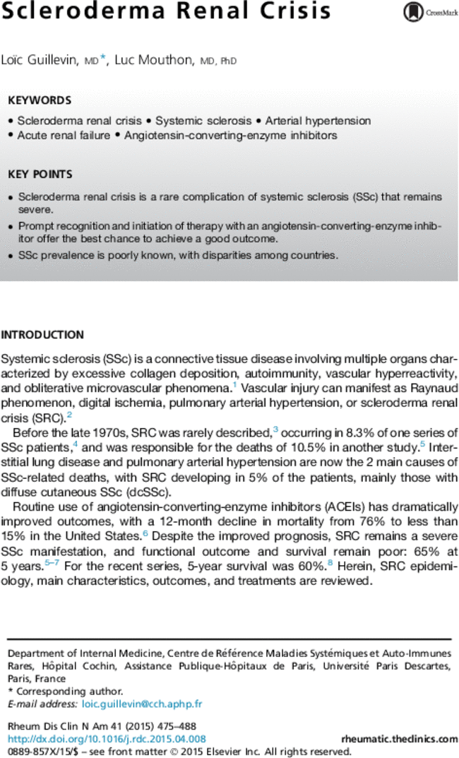 scleroderma renal uncertainty look at article